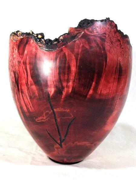 houten urn, esdoorn